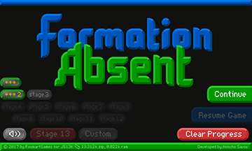 Formation Absent - Title screen