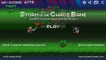 Storm of the Chaos Bane - Title screen