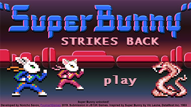 Super Bunny Strikes Back - Title screen